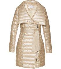 cappotto corto trapuntato lucido (oro) - bpc selection premium