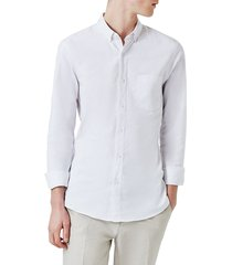 men's topman muscle fit oxford shirt, size x-large - white