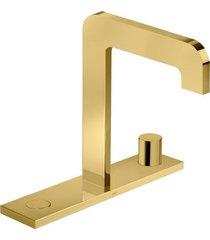 misturador para banheiro mesa com chapa click gold - 1877.gl98 - deca - deca