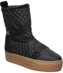 joan, 679 winter boots shoes boots ankle boots ankle boots flat heel svart stine goya