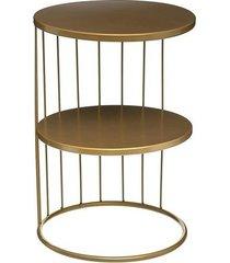 stolik kawowy metalowy lorin złoty