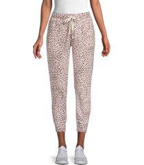 n:philanthropy women's leopard-print corner joggers - blossom leopard - size s
