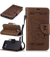 xyx j3 luna pro case don't touch my phone flip pu wallet leather protective case