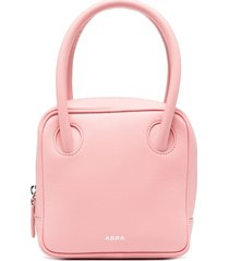 abra mini square tote - pink