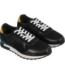 sneakers de cordón en textil y cuero para hombre freedom 00849