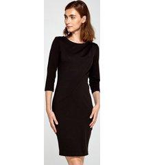 sukienka z drapowaniem czarna