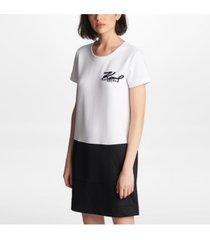 karl lagerfeld paris signature contrast dress