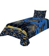 jogo de cama batman infantil personagem 2 peã§as  lepper - azul - menino - dafiti