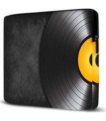 capa para notebook isoprene disco vinil 15 polegadas - unissex