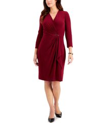 charter club hardware faux-wrap dress, created for macy's