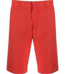 fay straight leg shorts - orange