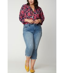 nydj women's plus size chloe skinny capri jeans