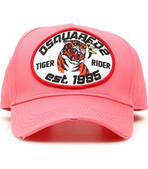 dsquared2 tiger rider patch baseball cap