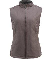 wolverine women's belmont vest pewter, size l