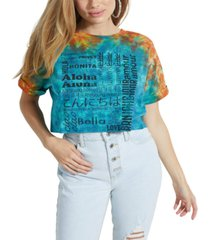 guess eco international cropped graphic t-shirt