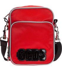 gcds bright red crossbody bags
