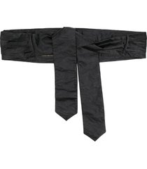 philosophy di lorenzo serafini pleated satin tie waist belt - black