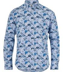 skjorta jprblasummer print shirt l/s, slim fit