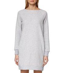 sweater dress heather boat neck