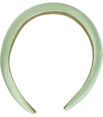 jennifer behr tori silk headband - green