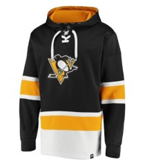 majestic pittsburgh penguins men's power play lace up hoodie