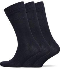 soft cotton socks 3-pack underwear socks regular socks svart gant