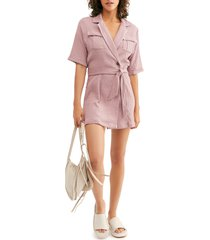 women's endless summer by free people clementine mini dress, size small - purple