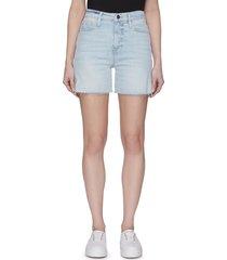 'le tour' raw edge denim shorts