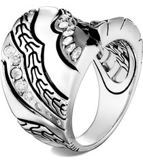 women's john hardy lahar white diamond saddle ring