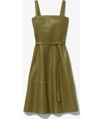 proenza schouler white label leather belted dress military/green 8