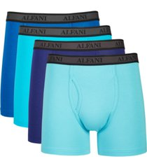 alfani men's 4-pk. alfatech microfiber boxer briefs, created for macy's