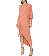 bcbgmaxazria asymmetrical one-sleeve knit dress