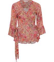 blus deep groove garden blouse