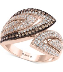 effy diamond bypass statement ring (3/4 ct. t.w.) in 14k rose gold