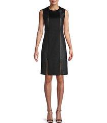 zippered sleeveless mini dress