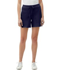 women's michael stars reggie cutoff cotton blend fleece shorts, size small - blue