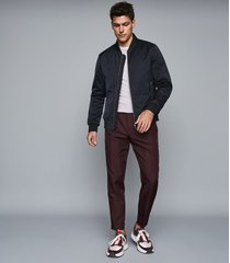 reiss blossum - lightweight bomber jacket in navy, mens, size xxl