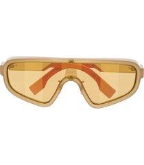 fendi eyewear single-lens sunglasses - neutrals