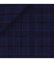 blazer da uomo su misura, lanificio zignone, leggerissimo blu principe di galles, primavera estate | lanieri