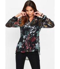 chiffon blouse met lurex