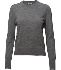 merino r-neck sweater gebreide trui grijs filippa k