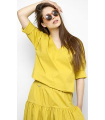 bawełniana bluzka jagna w żółtym kolorze