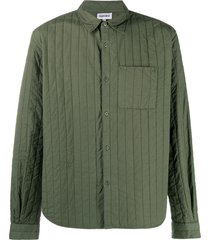 kenzo quilted shirt - green
