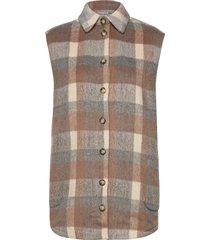 fxtacheck 3 waistcoat vests overshirts brun fransa