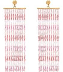 rideaux beaded-tassel earrings