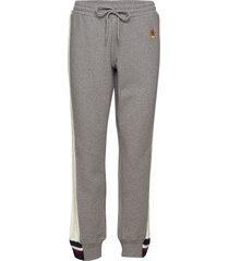 cable knit stripe track pant sweatpants mjukisbyxor grå hilfiger collection