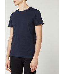 balmain men's embossed logo t-shirt - marine - s