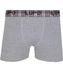 cueca boxer de algodão elástico xadrez 603-011 lupo