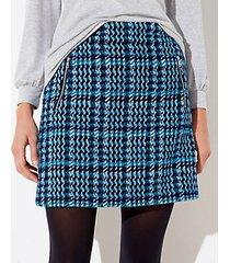 loft petite houndstooth shift skirt