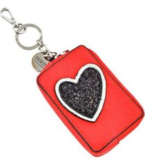llavero guess britta pouch keychain para mujer-rojo con envio gratis